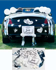 Just married car decorating kit wedding - Just married decorations for car ...